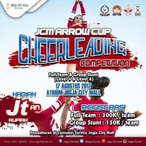 Event Arrow Cup Cheerleading Competition-Jogja City Mall (17 Agustus 2017)