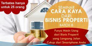 Seminar Cara Kaya dari Bisnis Properti Di Cube Hotel