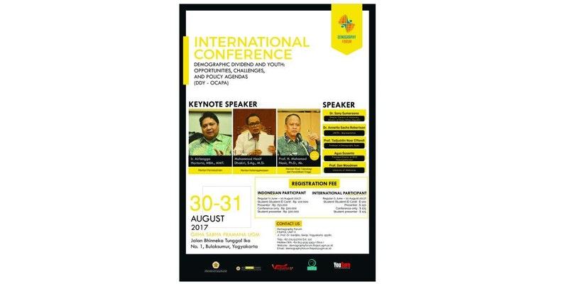 Seminar Demography Forum FISIPOL UGM ! Free