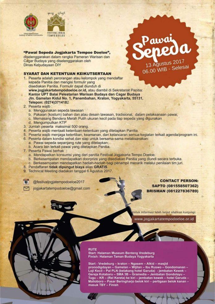 Pawai Sepeda Jogjakarta Tempoe Doeloe Yogyakarta