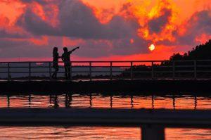 sunset embung langgeran