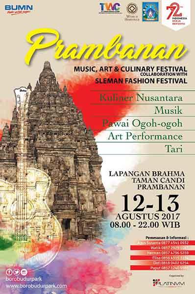 Prambanan Music, Art & Culinary Festival Agustus 2017
