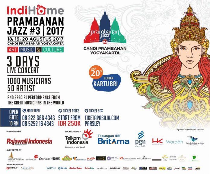 Event untuk Pecinta Musik Jazz Prambanan Jazz 2017 'Art, Music & Culture'