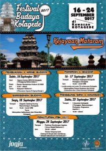 Festival Budaya Kotagede 2017 (16-24 September 2017)