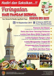 Peringatan Hari Pangan Sedunia XXXVII DIY 2017 (7-9 September 2017)