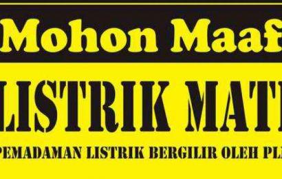 22 September: Jalan AM Sangaji, Jalan Sardjito hingga Jalan W Monginsidi Akan Padam Listrik