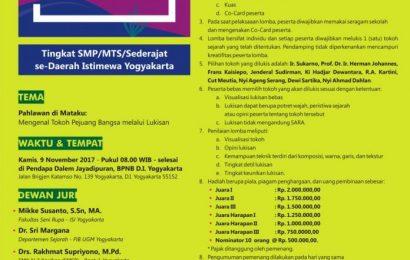 Lomba Lukis Kesejarahan Tingkat SMP/MTS/Sederajat Se-DIY
