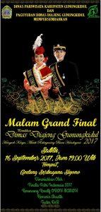 Malam Grand Final Pemilihan Dimas Diajeng Gunungkidul (16 September 2017)