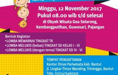 LOMBA LUKIS DAN MEWARNAI DI GOA SELARONG (9 Oktober – 10 November 2017)