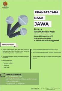 Dinas Kebudayaan DIY Gelar Lomba Pranatacara Basa Jawa