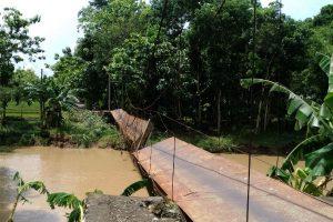 Dampak Banjir di Gunungkidul, 11 Jembatan Putus