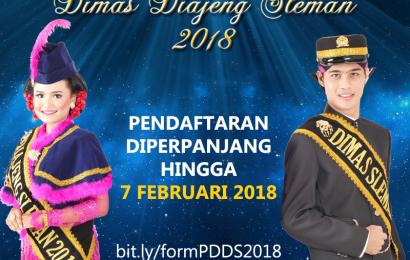 Pemilihan Dimas Diajeng Sleman 2018 Diperpanjang, Ayo Buruan Daftar