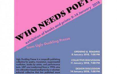 """UDP Bakal Pameran Buku """"Who Needs Poetry"""" di Yogyatourium"""